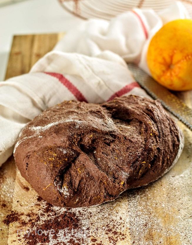 cocoa orange sourdough