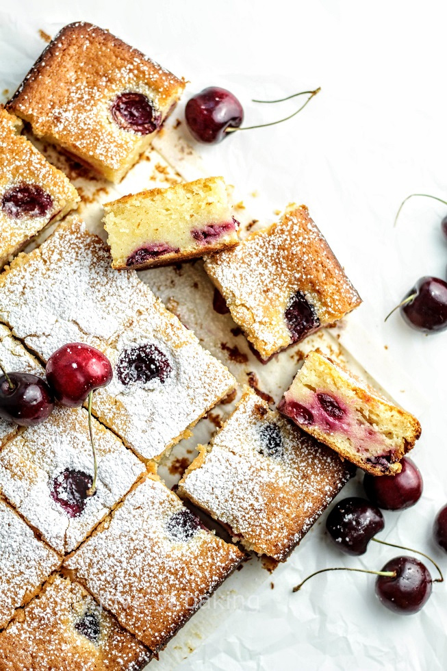 Cherry yogurt cake