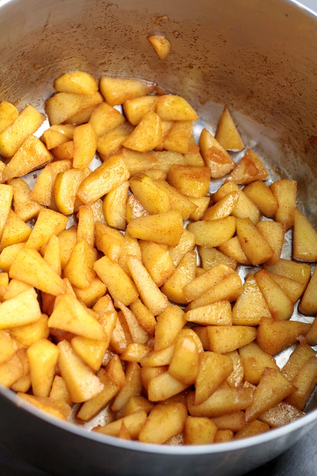 cooked apples