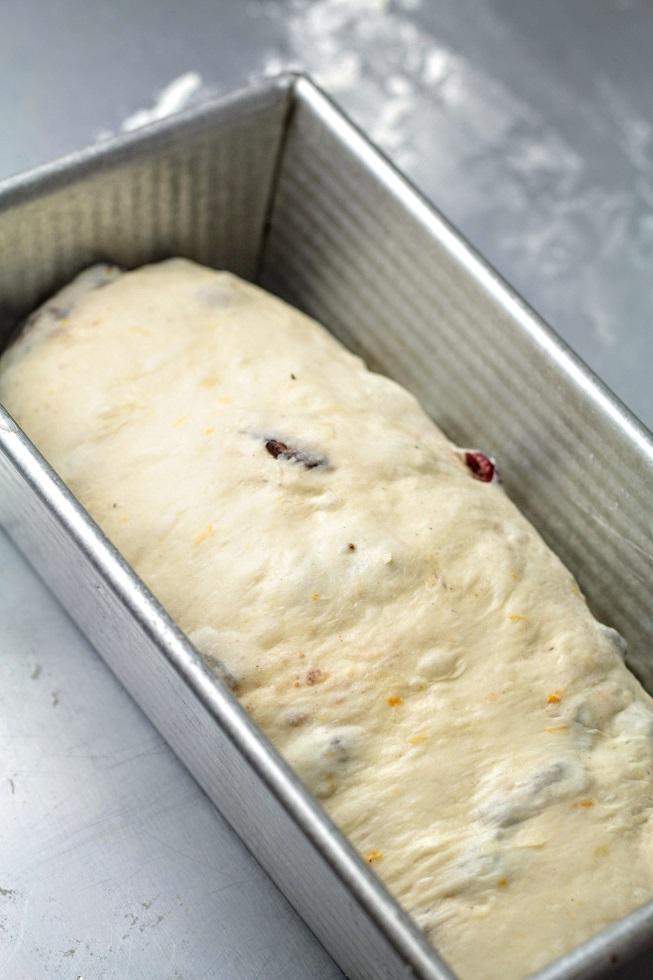 dough in pan