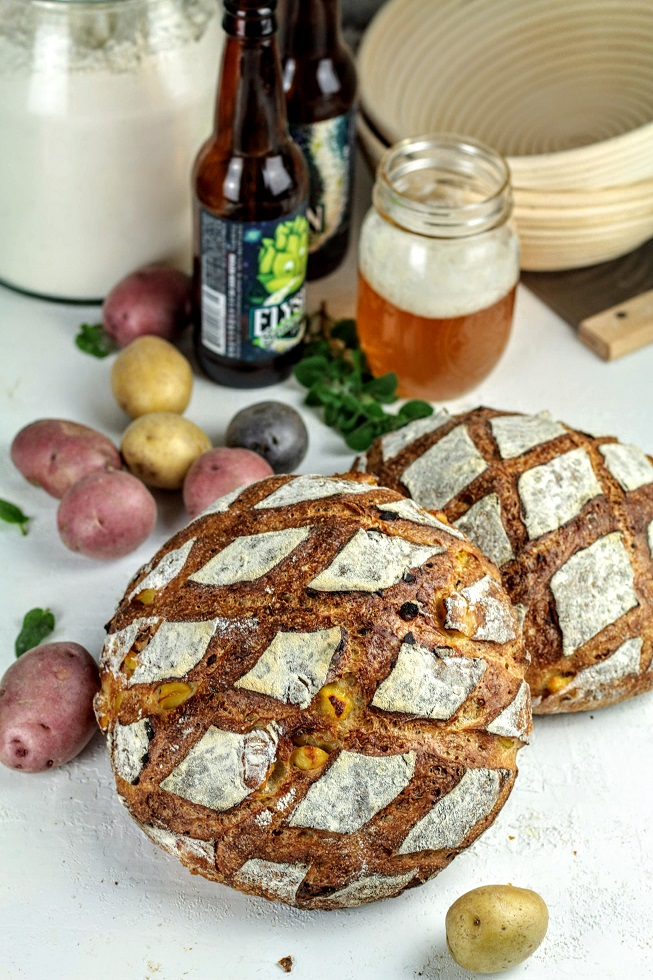 ale bread with potatoes
