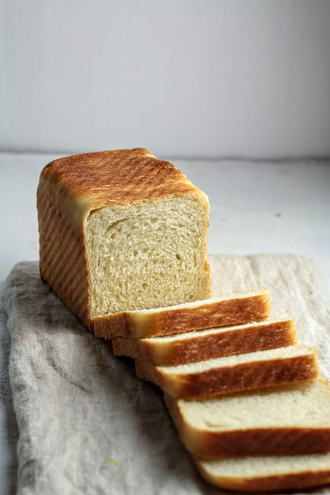 cut into bread