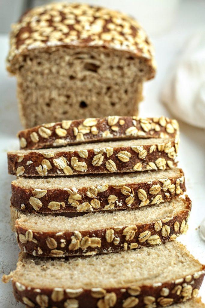honey oat pan loaf