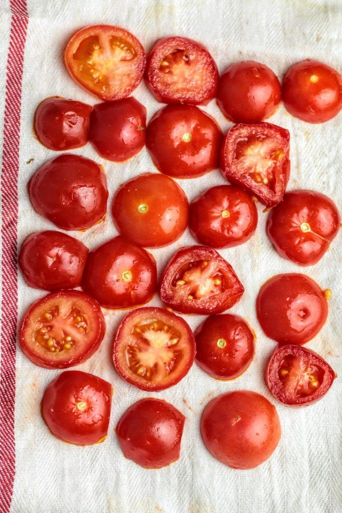 drain the tomatoes
