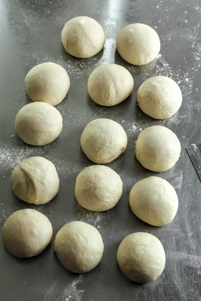 round up each dough ball