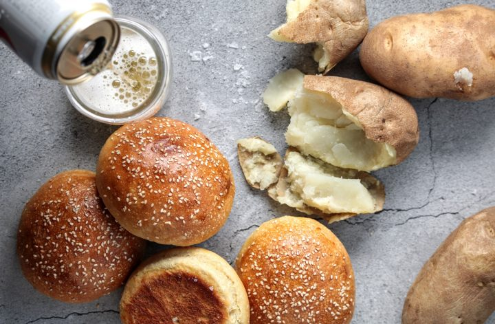 potato and ale burger buns