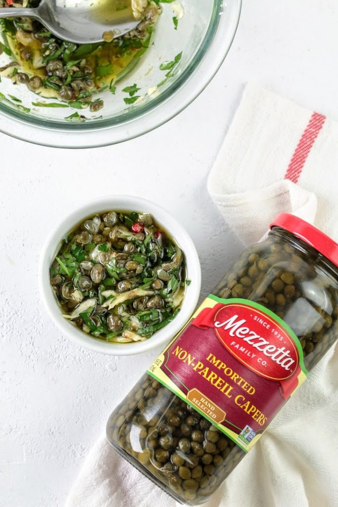 olive oil capers dip