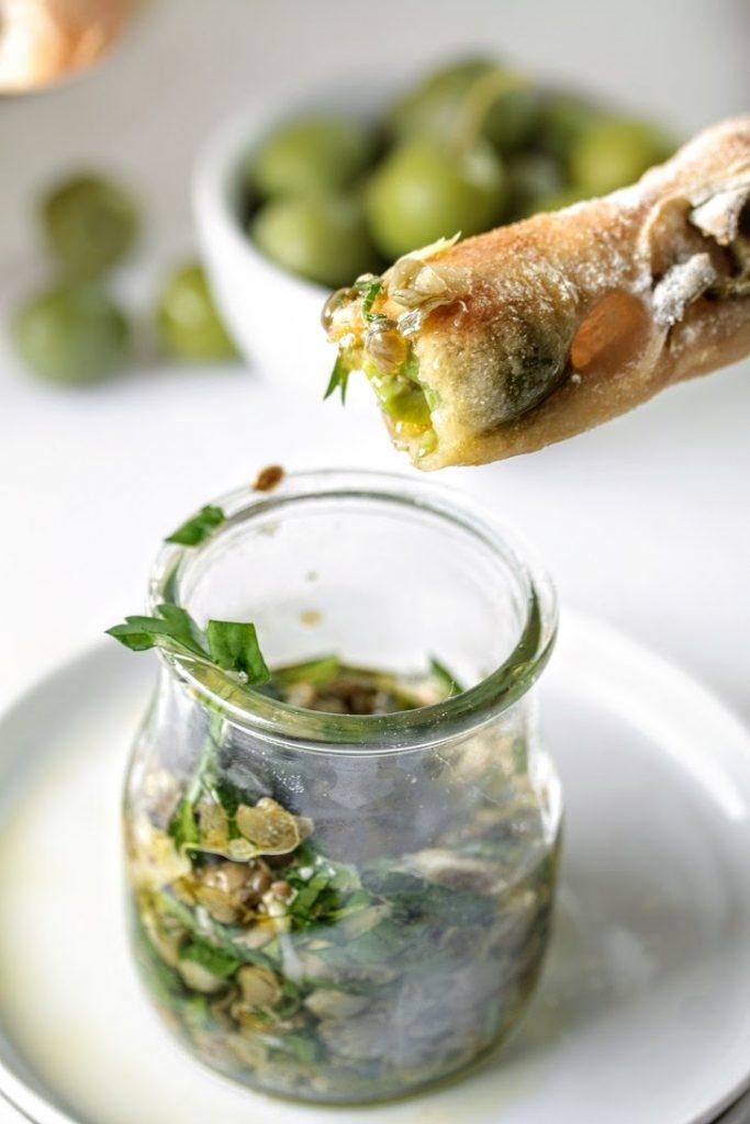 sourdough olive grissini