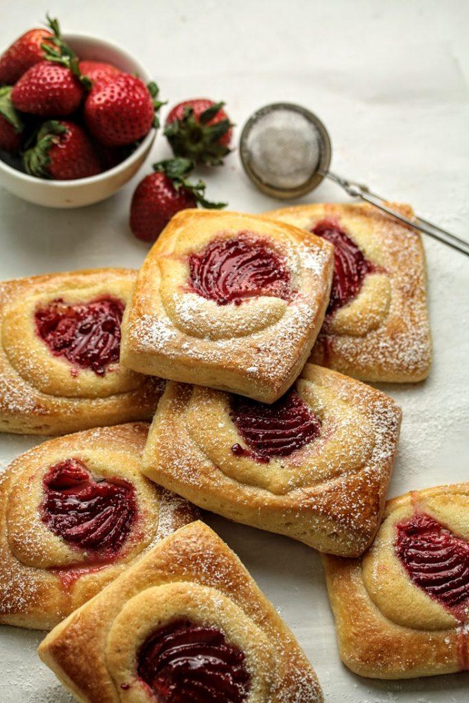 sourdough brioche frangipane tarts