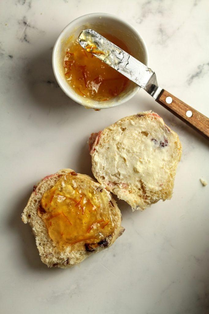 butter the rolls