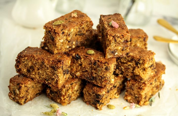 fruit and nut jaggery cake