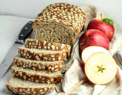 Apple & Oats Sourdough Sandwich Bread