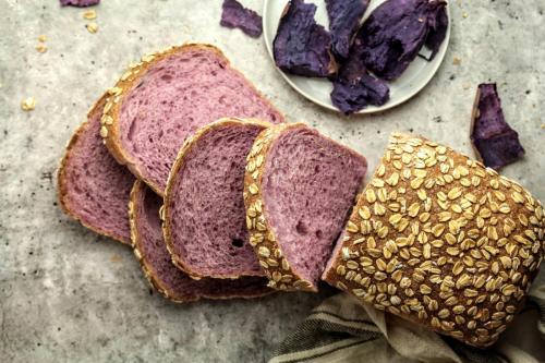 Purple Sweet Potato Sourdough Sandwich Loaf