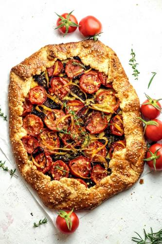 Summer Galette with Tomatoes